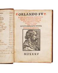 Orlando furioso di messer Ludovico Ariosto nobile ferrarese nuovamente da lui propriocorretto e daltri canti nuovi ampliato, nuovamente stampato.