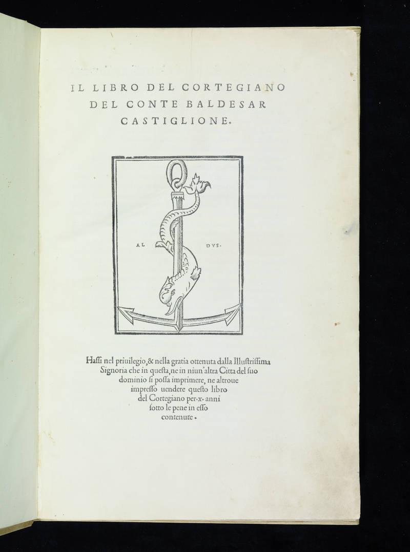 Il libro del cortegiano del conte Baldesar Castiglione.