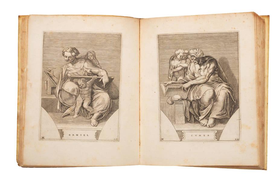 Michael Angelus Bonarotus Pinxit, Adam Sculptor Mantuanus Incidit.